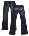 Miss Me Girls Bootcut Jeans for Tween Rhinestone Glam
