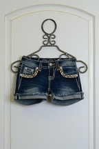 Miss Me Girls Denim Shorts with Cuff