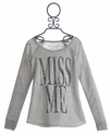 Miss Me Girls Embellished Sweatshirt (LG 10 & XL 14)