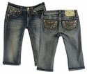 Miss Me Girls Jean Capri with Bedazzled Pockets