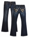 Miss Me Girls Jeans with Bedazzled Cross Pockets (7,8 & 10)