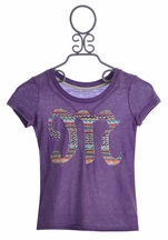 Miss Me Girls M Logo Top in Purple (MD 10 & LG 12)