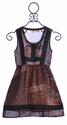 Miss Me Girls Patterned Dress Bohemian Burgundy