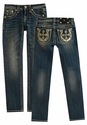 Miss Me Girls Straight Jeans with Horseshoe Cross Pockets