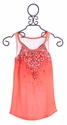 Miss Me Girls Tank Top in Coral