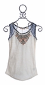 Miss Me Girls Top with Burnout Detail