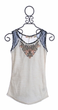 Miss Me Girls Top with Burnout Detail (SM 7/8 & MD 10)