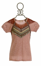 Miss Me Heathered Top in Dusty Rose for Tweens