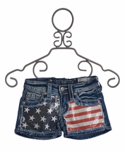 Miss Me Kids American Flag Shorts (Size 14)