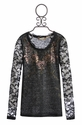 Miss Me Kids Black Top with Lace Sleeves
