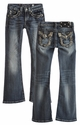 Miss Me Kids Bootcut Jean - Medium Wash and Embellished Pocket