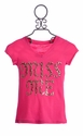 Miss Me Kids Fuchsia Pink Top for Girls Stud Graphic (SM 7/8 & MD 10)