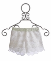 Miss Me Kids - Girls Lace Shorts in Ivory