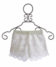 Miss Me Kids - Girls Lace Shorts in Ivory (Size SM 7/8)