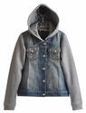 Miss Me Kids Hooded Denim Jack for Tweens