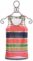 Miss Me Kids Navy and Coral Stripe Tween Tank