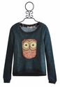 Miss Me Kids Owl Sweatshirt for Tween Girls (MD 10)