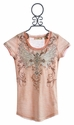 Miss Me Kids Peach Lace Back Top for Girls