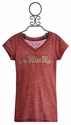 Miss Me Kids Red Tee with V Neckline