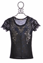 Miss Me Kids Studded Rhinestone Shirt in Black