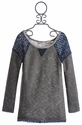 Miss Me Kids Tween Lace Trim Sweater