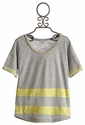 Miss Me Kids Tween Lemon Stripe Top