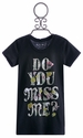 Miss Me Kids Tween Tee in Black with Screen Print