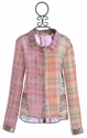 Miss Me Long Sleeve Plaid Shirt with Spring Flowers Accent