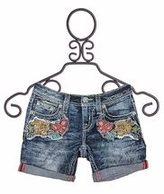 Miss Me Midi Shorts for Girls with Flowers (7,10,12,14)