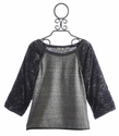Miss Me Oversized Grey Top for Tweens