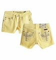 Miss Me Pastel Yellow Winged Tween Shorts