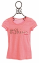 Miss Me Pink Top for Girls Hashtag Shine