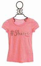 Miss Me Pink Top for Girls Hashtag Shine (Size MD 10 )