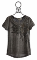 Miss Me Short Sleeve Feather Top for Tweens
