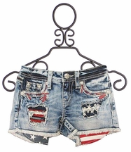 Miss Me Shorts with American Flag Pockets (10,12,14)