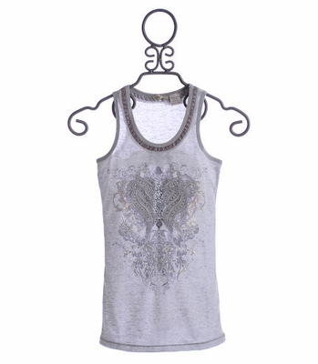 Miss Me Tween Girls Tank Vector Crest