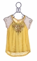 Miss Me Yellow Girls Top with Beading
