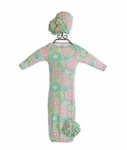 ModSwad Couture Baby Gown in Spring Green