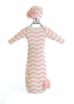 ModSwad Girls Baby Sak in Pink Chevron