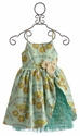 Moxie and Mabel Floral Girls Dress in Margot Bustle