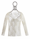 Moxie and Mabel Ivory Lace Girls Sheer Top