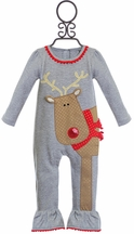Mud Pie Baby Girls Romper with Reindeer