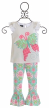 Mud Pie Butterfly Tunic and Legging Set (2T & 3T)