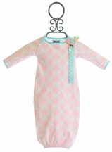 Mud Pie Chick Gown and Pacy Clip Set