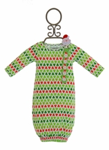 Mud Pie Christmas Gown in Red and Green