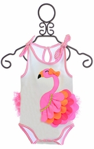 Mud Pie Designer Onesie with Flamingo