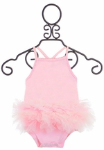 Mud Pie Designer Onesie with Tutu in Pink