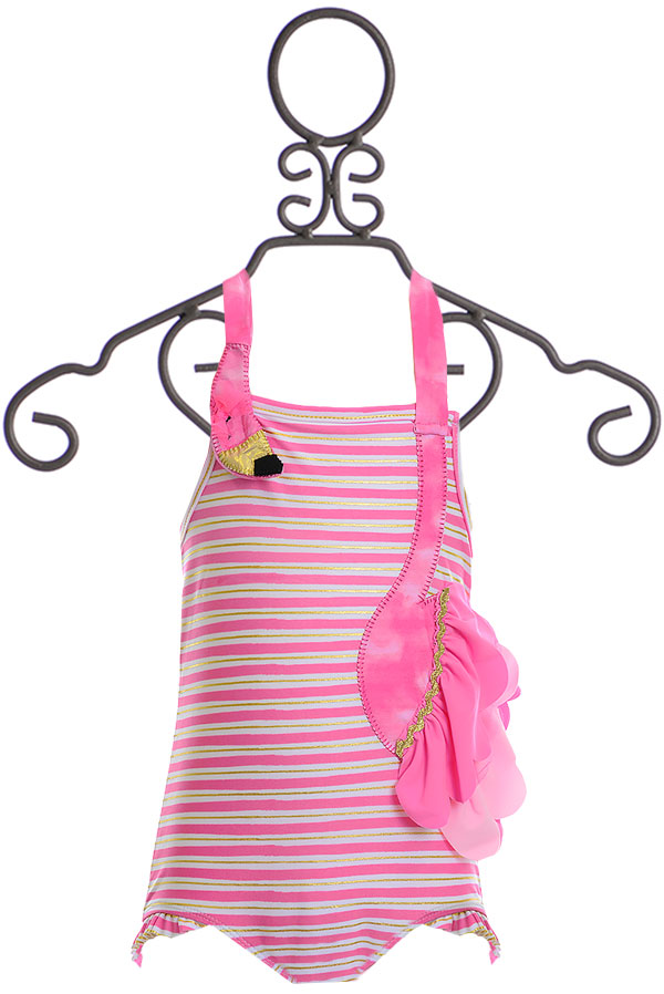 Mud Pie Flamingo Ruffle Swimsuit