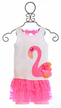 Mud Pie Flamingo Skirt Set (2T & 5T)