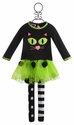 Mud Pie Girls Halloween Tutu and Cat Top